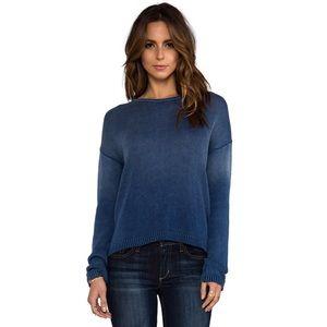 Current Elliot indigo dyed cotton slouchy sweater